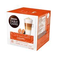 Кофе в капсулах для кофемашин Nescafe Dolce Gusto Latte Macchiato Caramel (16 штук в упаковке)