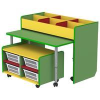 Модуль детский М-520 (разноцветный, 2 тумбы, стол)