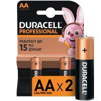 Батарейки Duracell Professional пальчиковые АА LR6 (2 штуки в упаковке)