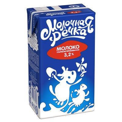 Молоко Молочная Речка ультрапастеризованное 3.2% 973 мл
