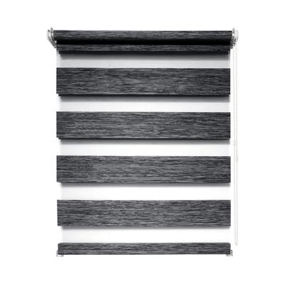 Рулонная штора день/ночь Канзас 8787 графит (600х1600 мм)