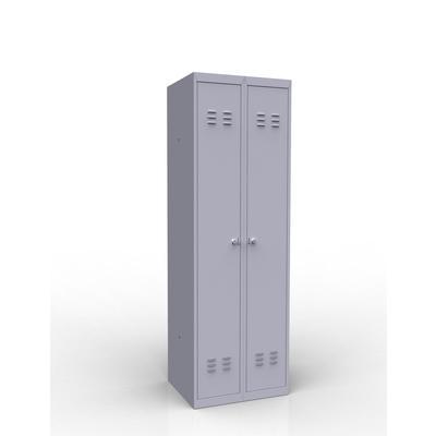 Шкаф для одежды металлический ШР-22 L500 2 отделения (1850x500x500 мм)