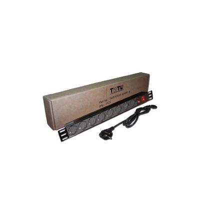 Сетевой фильтр Lanmaster TWT-PDU19-10A8P-1.8 8 розеток 1.8 метра черный