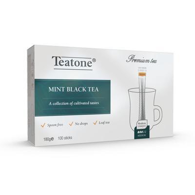 Чай Teatone черный с мятой 100 стиков