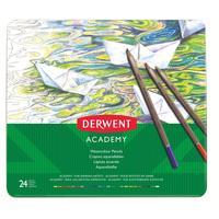 Карандаши акварельные Derwent Academy Watercolour Tin 24 цвета