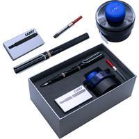 Набор письменных принадлежностей Lamy Safari (перьевая ручка черного цвета, картриджи, конвертер, чернила 30 мл)