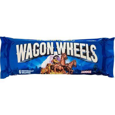 Печенье бисквитное Wagon Wheels суфле с джемом и глазурью 228 г