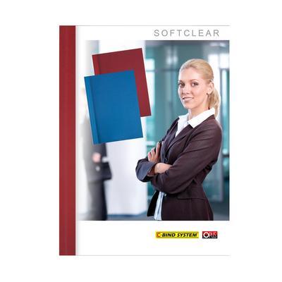 Обложки для переплета картонные/пластиковые Opus C-bind Softclear 140 мкм бордовые (корешок 13 мм, 10 штук в упаковке)