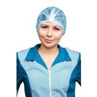 Шапочка одноразовая Шарлотта голубая (100 штук в упаковке)