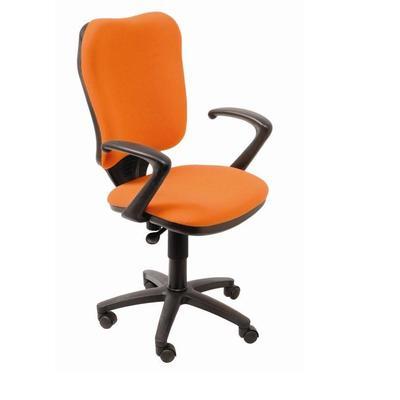 Кресло офисное Бюрократ CH 540 оранжевое (ткань, пластик)