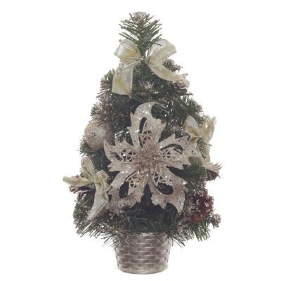 Елка новогодняя настольная 30 см с декором и шишками (718239)
