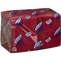Салфетки бумажные Luscan Profi Pack 24х24 бордовый 1-слойные 400 штук в  упаковке