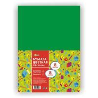 Бумага цветная № 1 School Отличник (А4, 8 листов, 8 цветов, офсетная)