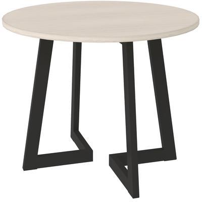Стол журнальный Триада-12 Д (выбеленный дуб/черный, 600х600х450 мм)