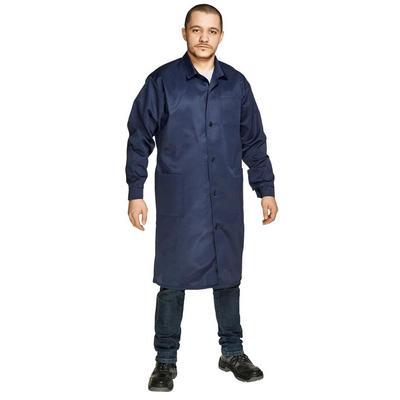 Халат мужской смесовый у03-ХЛ синий (размер 52-54, рост 170-176)