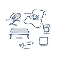 Комплект одноразового белья Hartmann Foliodrape Protect для кесарева  сечения стерильный (8 предметов)