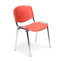 Стул офисный Easy Chair Изо красный (пластик, металл хромированный)