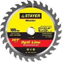 Диск пильный по дереву Stayer Opti Line 185х20 мм 30Т (3681-185-20-30)