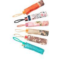 Зонт женский Цветное ассорти механический в ассортименте (3516)