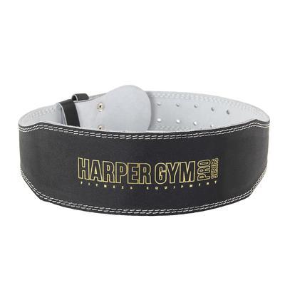 Пояс для тяжелой атлетики Jabb/Harprer Gym JE-2623 узкий черный/белый размер S