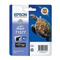 Картридж струйный Epson T1577 C13T15774010 серый оригинальный