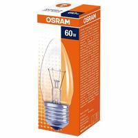 Лампа накаливания Osram 60 Вт Е27 свеча прозрачная 2700 К теплый белый свет