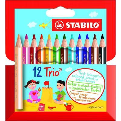 Карандаши цветные Stabilo Trio thick short 12 цветов трехгранные (205/12-01)