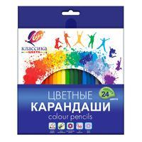 Карандаши цветные Луч Классика 24 цвета шестигранные