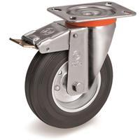 Колесо для тележки поворотное Tellure Rota с тормозом 80 мм (535421)