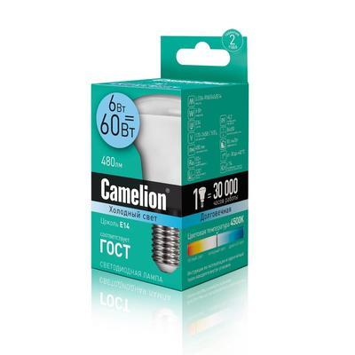 Лампа светодиодная Camelion 6 Вт E14 рефлектор холодный белый свет