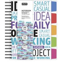 Бизнес-тетрадь креативная Attache Selection Office book 2 А4- 150 листов разноцветная в клетку на спирали 5 разделителей (215x245 мм)