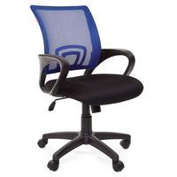 Кресло офисное Chairman 696 черное/синее (ткань/сетка/пластик)