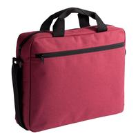 Конференц-сумка из полиэстера красная (38x30x8 см)