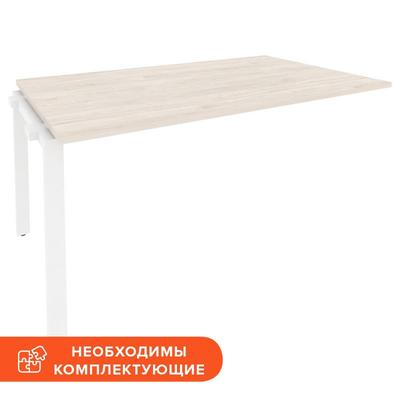 Элемент стола для переговоров Onix-П O.MP-NPRG-4 (денвер светлый/белый,  1580х980х750 мм)