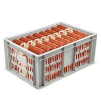 Ящик (лоток) колбасный из ПНД 600х400х250 мм морозостойкий белый