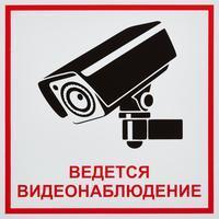 Знак Ведется видеонаблюдение пластик ПВХ 200х200х2 мм