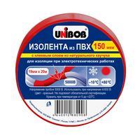 Изолента Unibob ПВХ красная 19 мм х 20 м красная