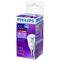 Лампа светодиодная Philips 5.5Вт E14 сферическая 2700k теплый белый свет