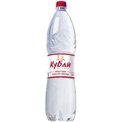 Вода питьевая Кубай газированная 1.5 литра (6 штук в упаковке)