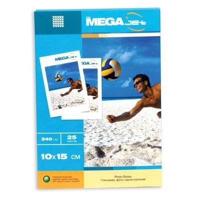 Фотобумага для цветной струйной печати ProMega jet односторонняя (глянцевая микропористая, 10х15 см, 240 г/кв.м, 25 листов)