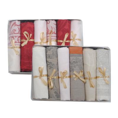 Набор полотенец льняных Лаура 35х50 см 6 штук в упаковке