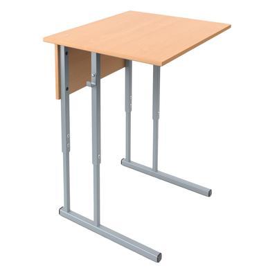 Стол ученический одноместный МЕТ (бук/серый, рост 5-7)