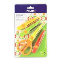 Ножницы детские фигурные Milan Zig Zag (160 мм, с 4 сменными лезвиями)