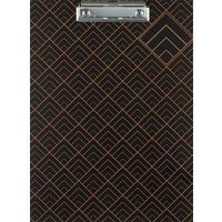 Папка-планшет с зажимом Комус A4 картонная черная