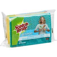 Губки для мытья посуды 3M Scotch-Brite 90x70x45 мм 2 штуки в упаковке