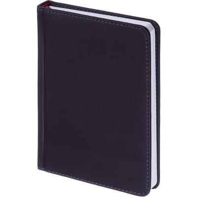 Ежедневник недатированный Альт Velvet искусственная кожа Soft Touch A6+ 136 листов темно-синий (110х155 мм)