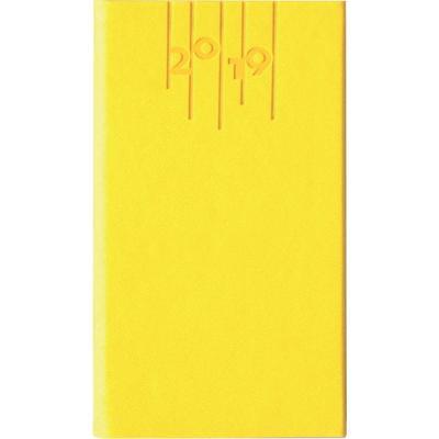 Еженедельник датированный карманный на 2019 год Escalada искусственная кожа А6 64 листа желтый (140x80 мм)