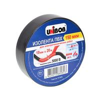 Изолента Unibob ПВХ черная 19 мм х 20 м черная