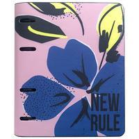 Бизнес-тетрадь Infolio Blue flower A5 120 листов разноцветная в клетку на кольцах (175x212 мм)