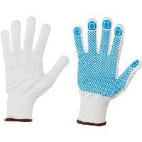 Перчатки рабочие трикотажные с ПВХ Точка L (10 пар в упаковке)